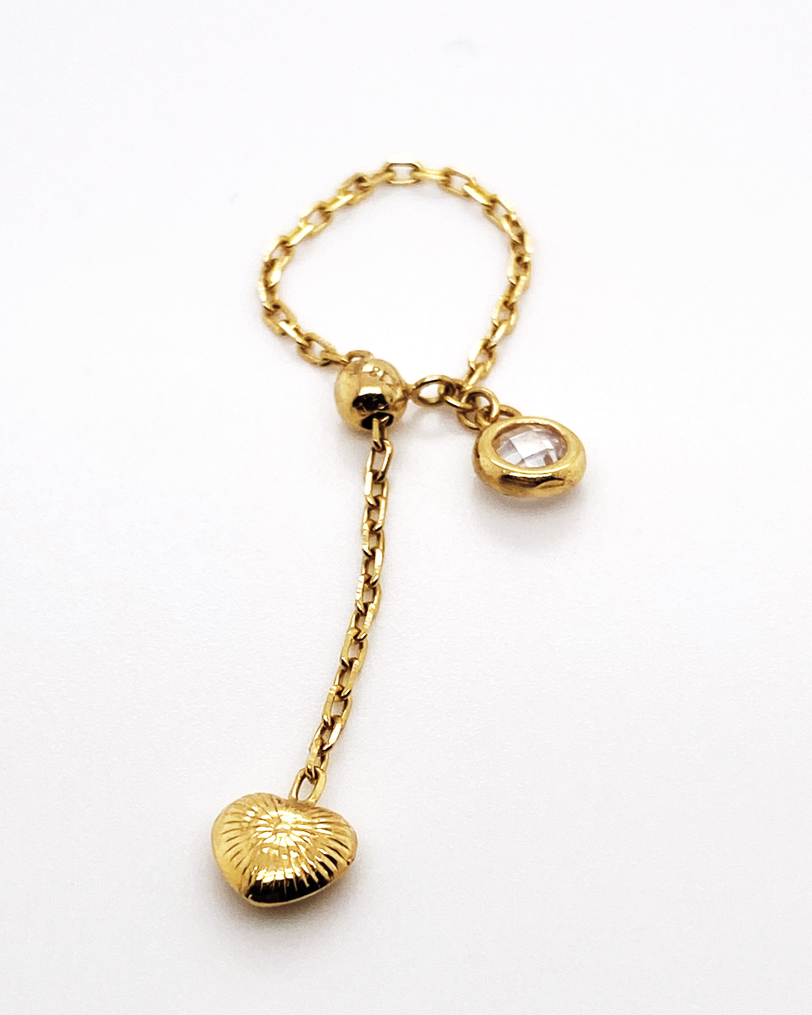 1.01 grams 18k SD Gold Adjustable Ring